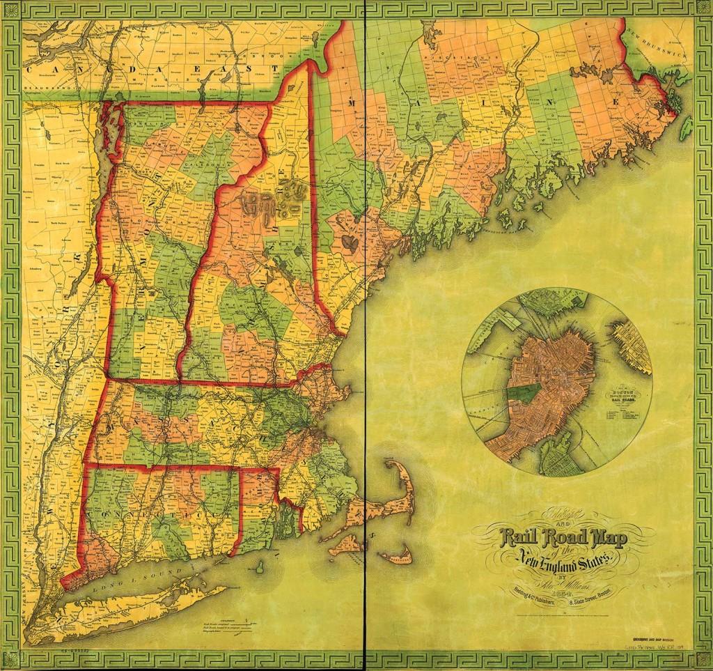 1854 Railroad Routes. LOC: 001090.