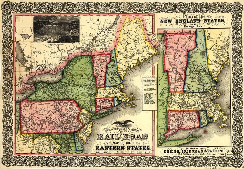 1856 Railroad Routes. LOC: rr000850.