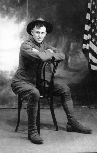 Irwin Briggs, future Methodist minister, was a medic in WWI.