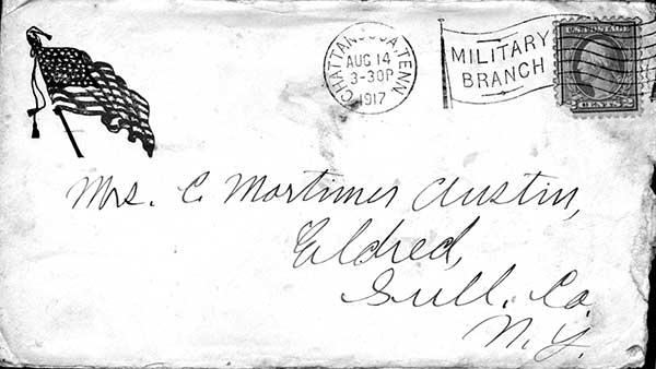 McKinley writes his mother Jennie Austin.
