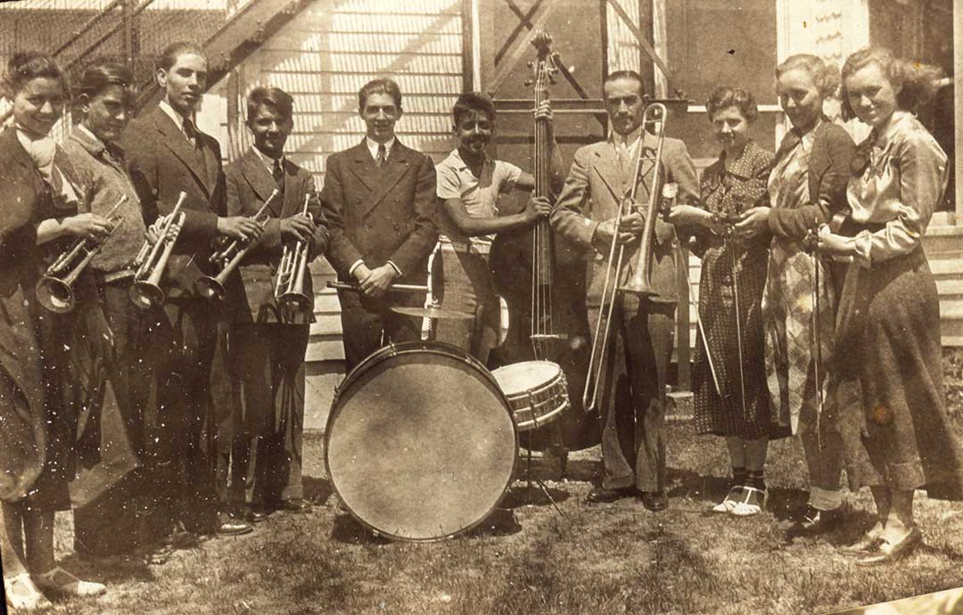 1937 Eldred Band. Laura Briggs on right; Mildred Briggs on left.  Photo courtesy of Mary A.