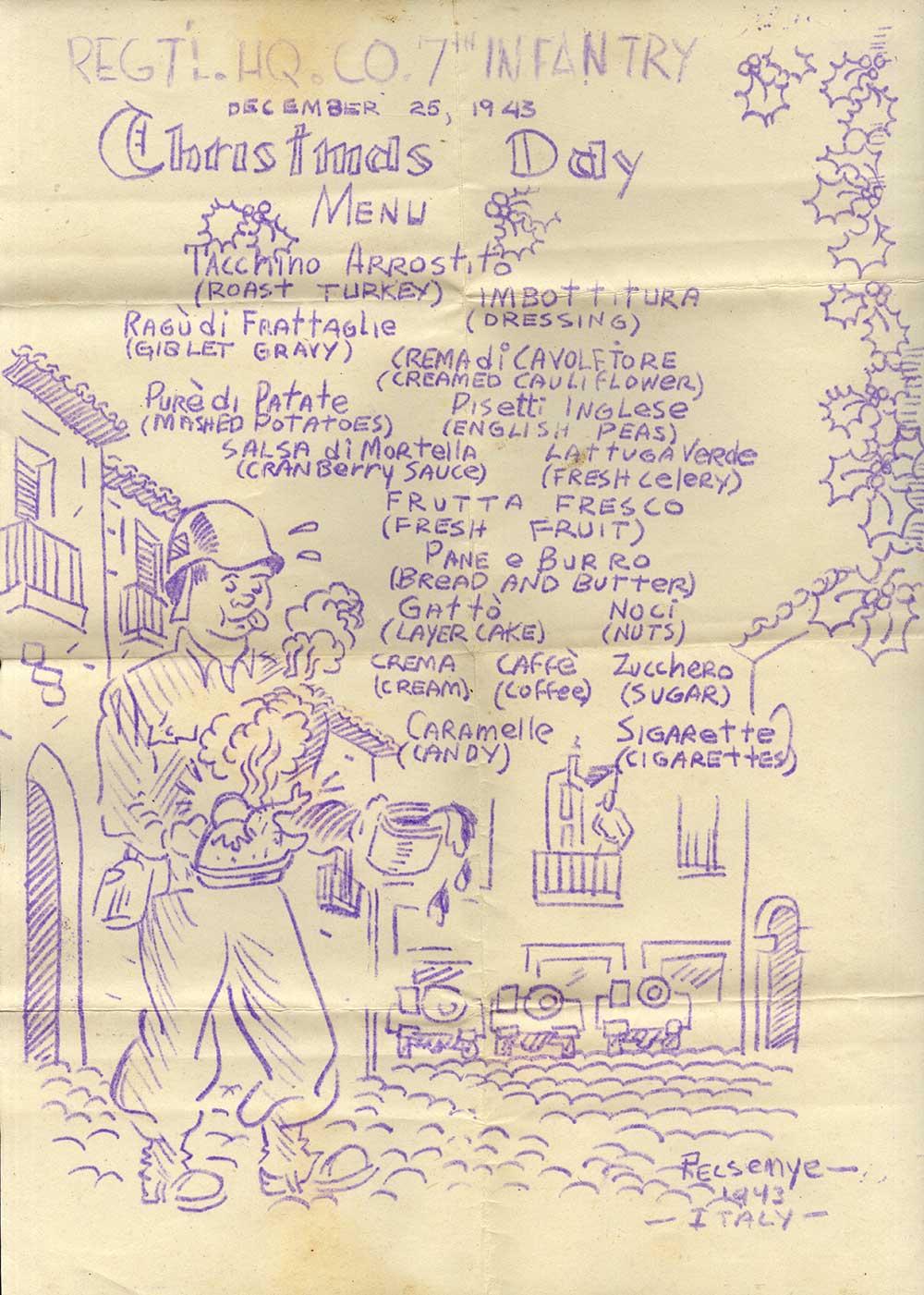 1943-Christmas-menu