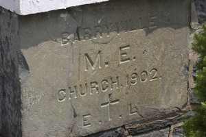 1902 Cornerstone of the Barryville Methodist Church. Photo: Gary Smith.