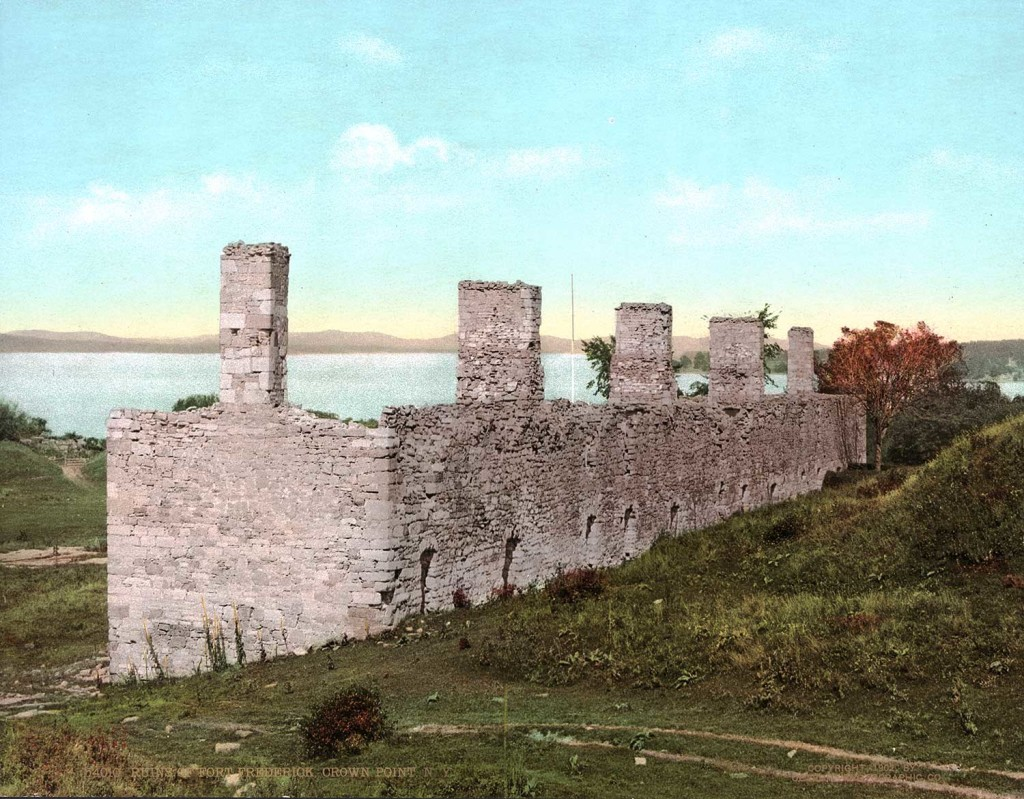 Ruins of Fort Crown Point, a British fort on Lake Champlain, Crown Point, New York. Pub: Detroit Photographic Co. 1902; Photochrom prints: LOC: 18215u.