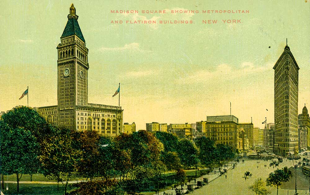 Old Postcard showing Madison Square Garden in the Austin Collection.