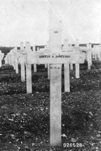 McKinley Austin's grave marker at the Meuse-Argonne Cemetery in France, in Austin Collection.