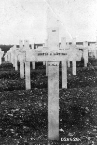 Mortimer McKinley Austin cross in France where he died.