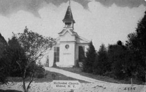 Eldred Methodist Church on the west side of the village that Lon and Aida Austin attended.