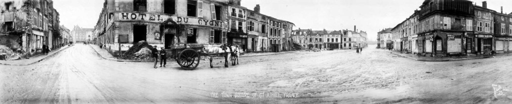 Town Square of St. Mihiel, France, 1918. Photo: Schutz Group Photographers. Library of Congress, Prints and Photographs Division: Call Number LOT 6944 no. 15 (OSE); 6a35216u.