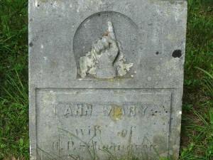 Gravestone for Ann Mary Austin Schoonover.
