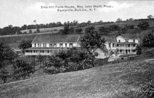 Side Hill Farm House owned by Henri Darrieusecq in1918. Postcard courtesy of Town of Highland.