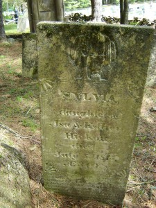 Sylvia Hickok's gravestone in the Old Eldred Cemetery courtesy of Cousin Cynthia.