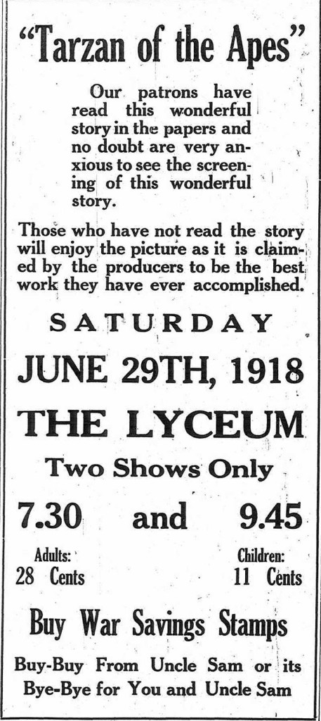 Ad in the Republican Watchman, June 1918.