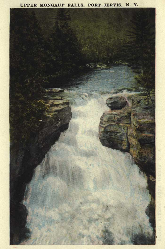 Upper Mongaup Falls: Old Port Jervis Postcard Folder.