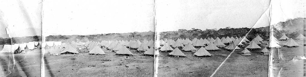 World War I Tents in the Austin Collection.