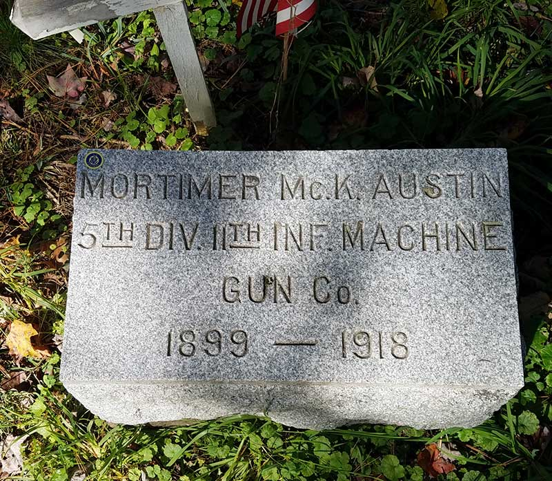 McKinley's gravestone in the Old Eldred Cemetery courtesy of Leavenworth cousin Matt S.